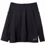 Terry Black Flare Skort Padded
