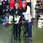 Rachel Keenan and me with our new Liv/giant Avail Inspire bicycles