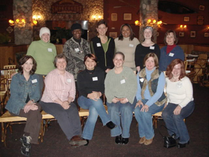 Maureen (2nd row, third from left) with the YSC Detroit