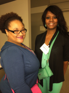 (L-R, Melanie and LaMonica at the Cancer and Careers Conference)