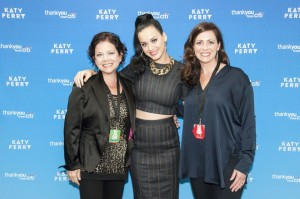 YSC Chief Development Officer, Jenna Glazer, Katy Perry and YSC CEO Jennifer Merschdorf at the 2013 concert.