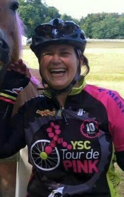 Diana enjoying her Tour de Pink journey.