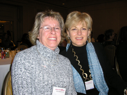 Beverly, at right, at C4YW, the Annual Conference for Young Women Affected by Breast Cancer