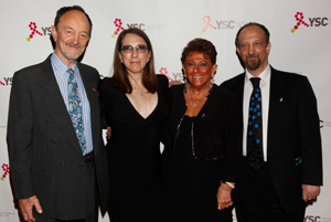 Jerry, Lisa, Carol and Paul Frank (from left to right) at In Living Pink