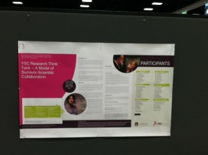 """Tracy Leduc's Poster """"Research Think Tank: A Model of Survivor-Scientist Collaboration"""""""