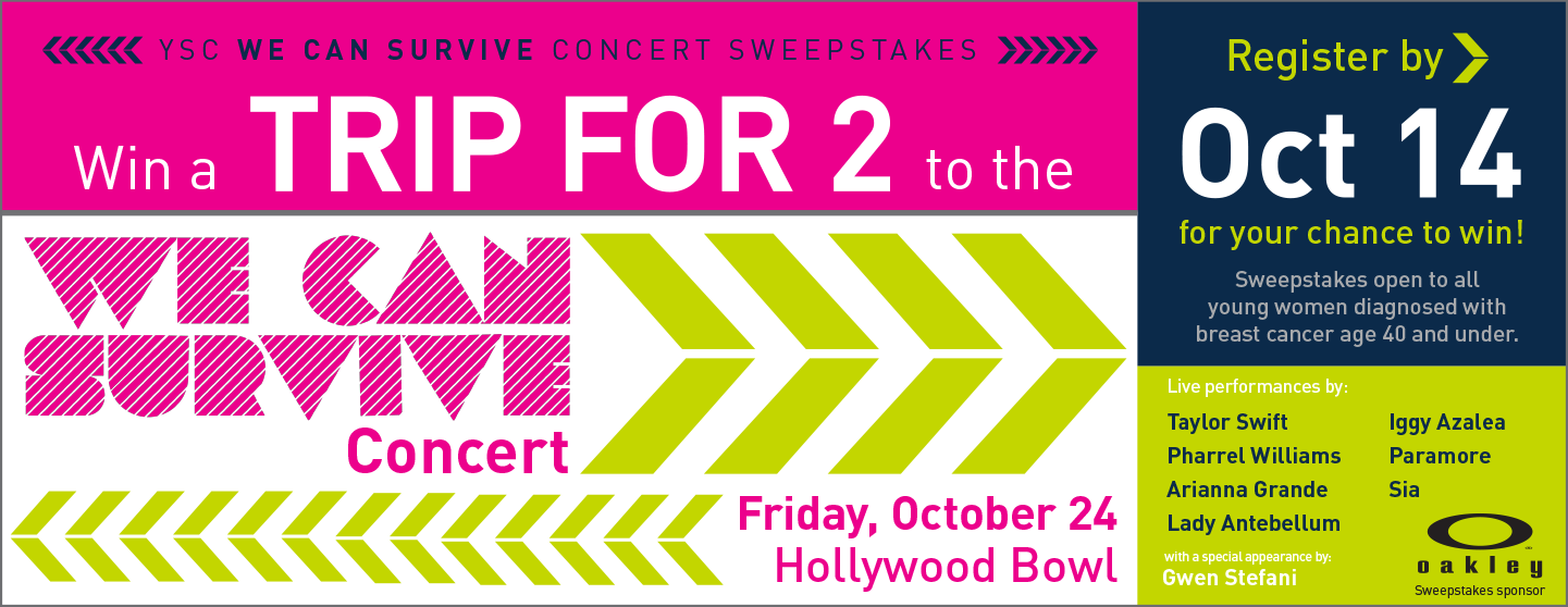 Win a Trip for 2 to the We Can Survive Concert!