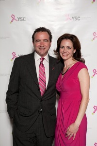 Jeffrey Gannon and wife, Jennifer Merschdorf. CEO of Young Survival Coalition.