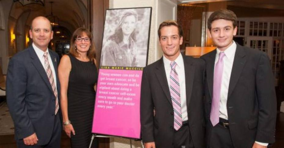 Michael, Lise, Dominick and James Muccilo at first Butterfly Ball in 2013 in honor of Lisa Marie Muccilo.