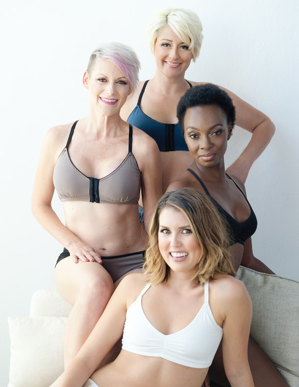Young Women Modeling Ana Ono's bras