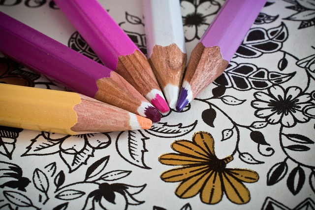 Coloring and other creative outlets are great forms of stress relief