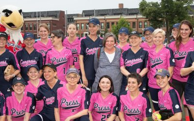 Teaming up on the Field to Strike out Cancer